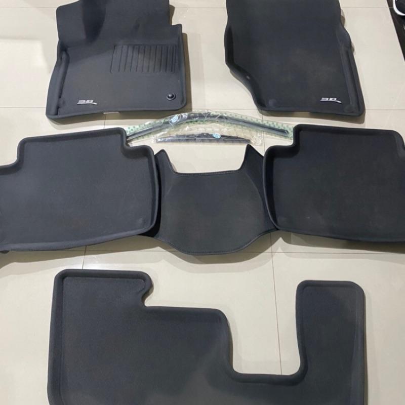 Audi Q7 3D卡固防水 腳踏墊 7人座