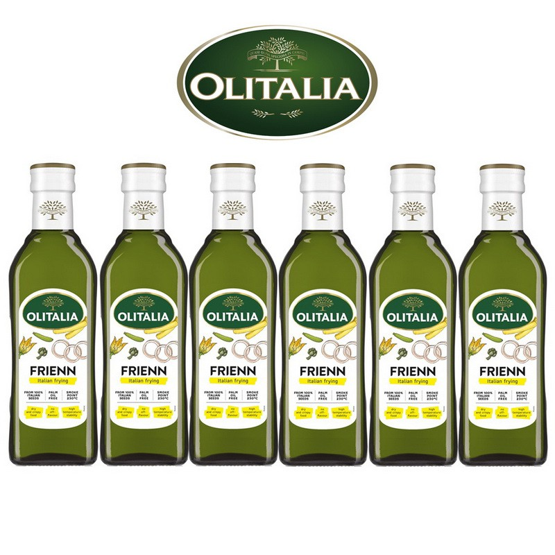 Olitalia奧利塔超值高溫專用葵花油禮盒組(500ml x 6瓶)