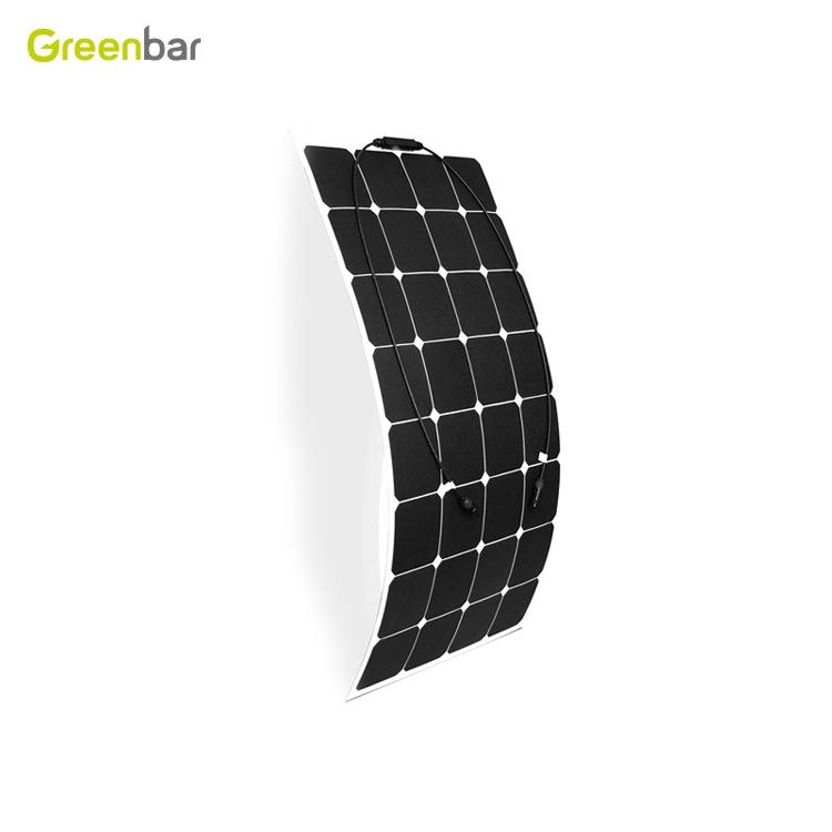 sunpower柔性太陽能板100W  etfe層壓太陽能電池板組件solar cell