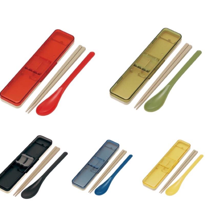 ***現貨***日本製SKATER透明彩殼環保餐具組 筷子/湯匙 靜音款