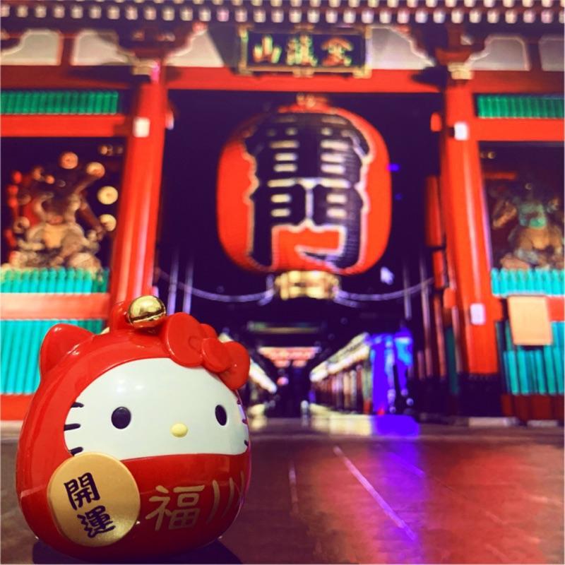 [限量]Hello Kitty 金運達摩(3D)造型悠遊卡,現貨供應中