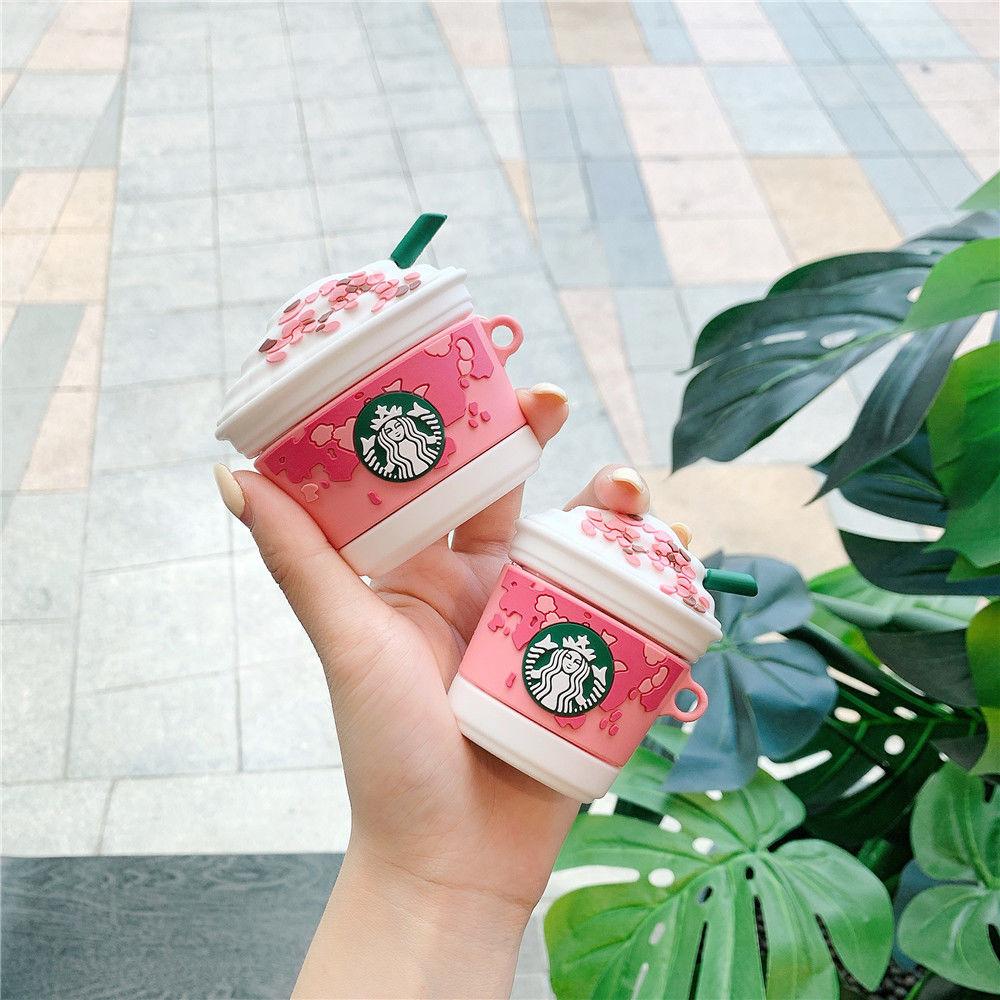 【保護套  創意 卡通】櫻花杯airpods保護套抹茶pro蘋果無線藍牙耳機套華強北二三代矽膠