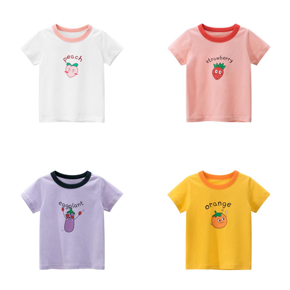 韓版童裝夏季女童短袖T恤寶寶衣服女童t恤可愛兒童t恤純棉童裝