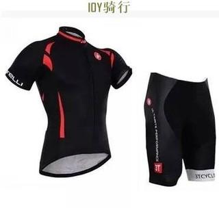 Castelli 黑色蝎子【現貨】短袖套裝  騎行服 自行車車衣、車褲 套裝 短袖短褲裝 短袖套裝 自行車裝備,男女款 臺中市