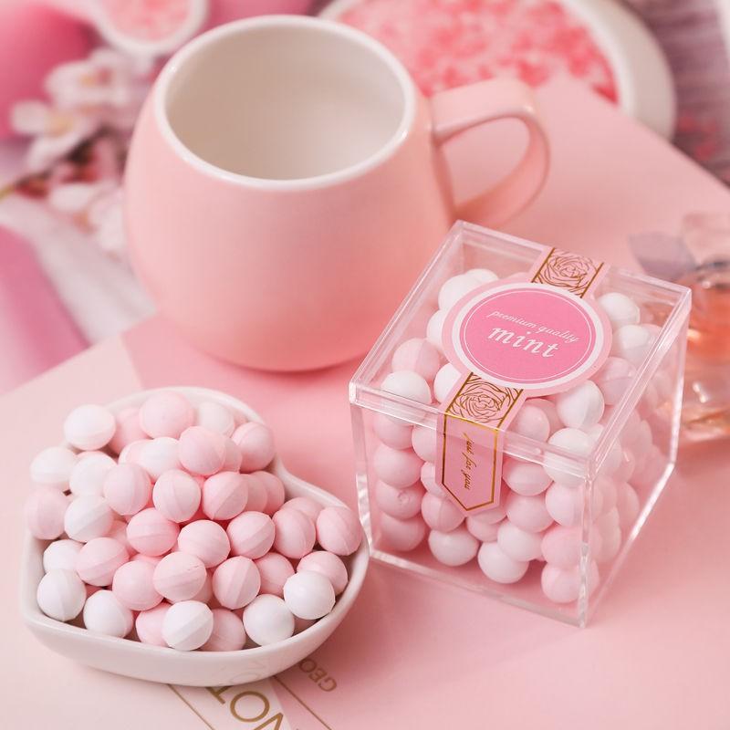 [促銷價]香體糖接吻糖花香糖薄荷糖18g七夕情人節送女友零食糖果口香糖95g