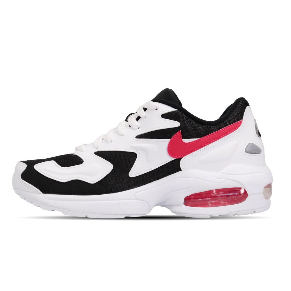 Nike 休閒鞋 Wmns Air Max2 Light 白 紅 女鞋 CJ7980-101 【ACS】