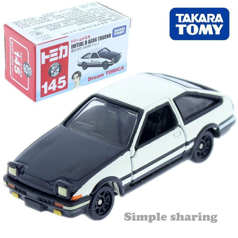 TOMY多美卡合金車模型TOMICA145號豐田AE86頭文字D藤原拓海賽車