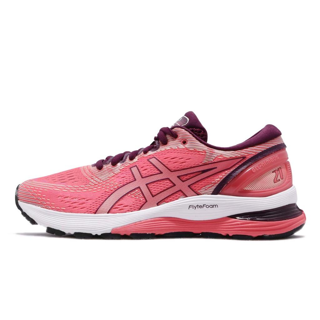 Asics 慢跑鞋 Gel-Nimbus 21 粉紅 白 女鞋 1012A156-700 亞瑟士【ACS】