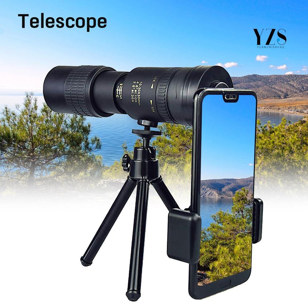 🚚滿額免運🚚10-300x40mm高倍高清伸縮變倍望遠鏡高清連續拉伸戶外迷你專業手機單筒望遠鏡