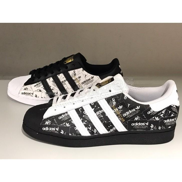 【Dr.Shoes 】白FV2819 黑FV2820 Adidas Superstar 滿版LOGO 反光 休閒鞋