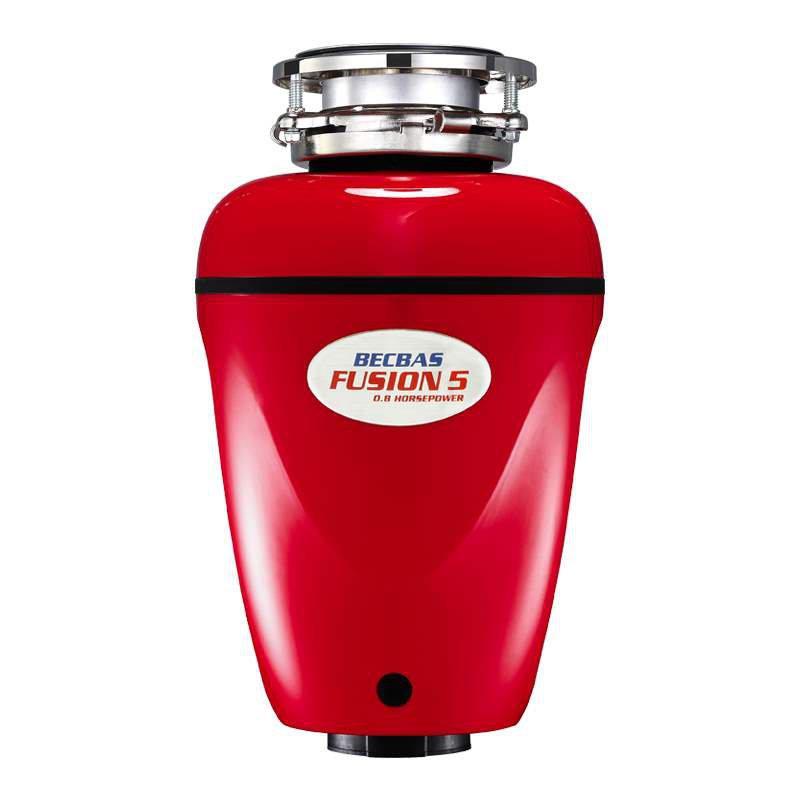 廚餘機(becbas)垃圾處理器廚房廚餘粉碎機感應開關 紅色 fusion5(f5 QjuO