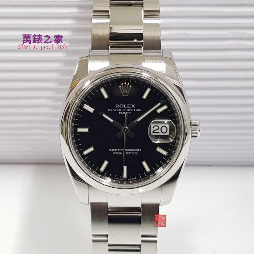 萬錶之家 ROLEX勞力士 115200盒證 男女適用 臺灣AD 錶徑35mm自動機械 黑面盤精鋼材質