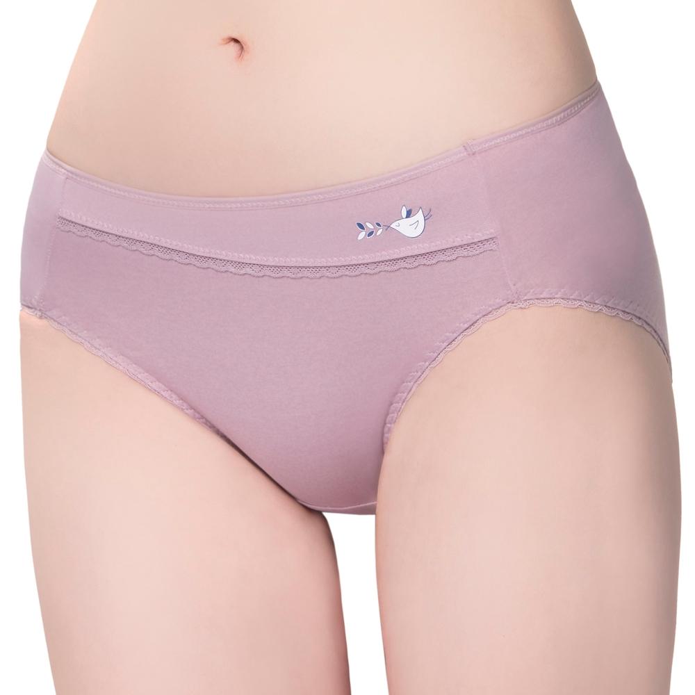 SWEAR 思薇爾 惹萌漾小鳥遊記系列M-XXL中腰三角內褲(絹荷紫)