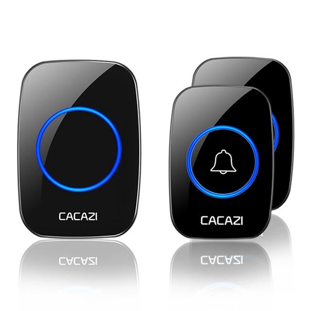 Cacazi Hya10Uk 插頭無線門鈴防水 Ip44 門鈴 60 鈴聲 300m 遙控器