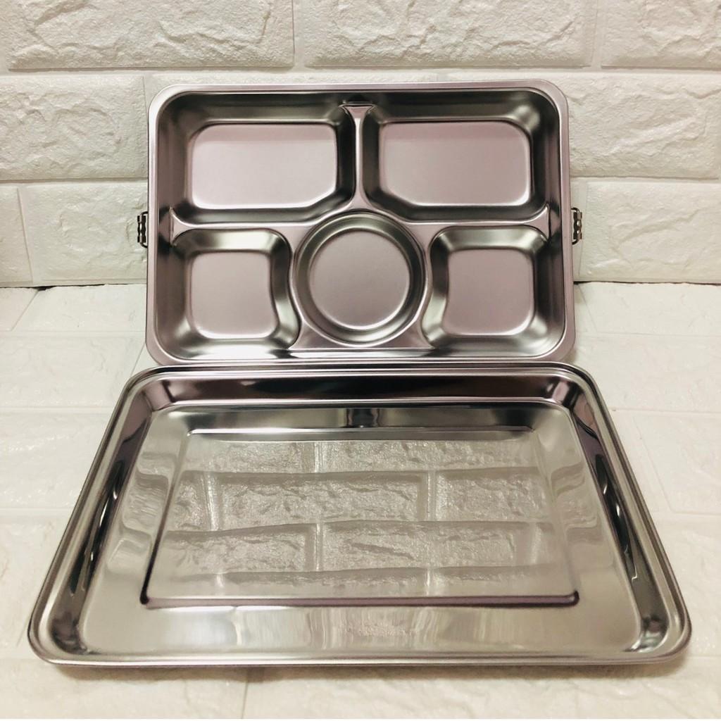 廚神 (現貨) 台灣製 蝴蝶牌 304不鏽鋼 雙扣五格附蓋餐盤 分格餐盤 五格餐盤 餐盒 自助餐盒 便當盒 不鏽鋼餐具