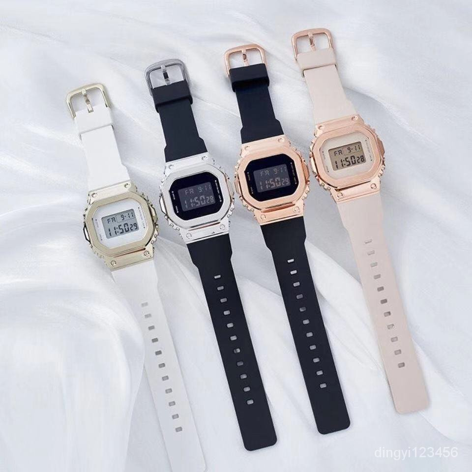 【好物種草】新款小方塊GM-S5600金屬錶殼男女學生情侶潮流防水運動小銀塊手錶 O9kf