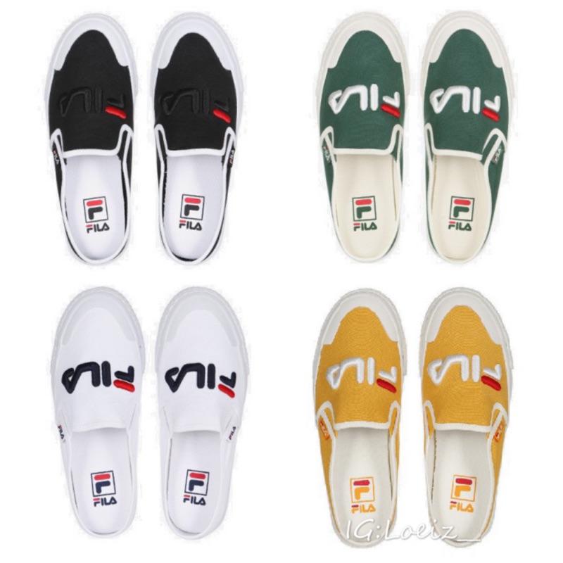 💐LOEIZ💐 韓國代購🇰🇷  FILA Mule  帆布  懶人鞋  穆勒鞋  拖鞋
