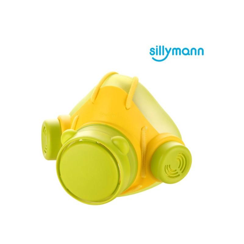 韓國sillymann 100%鉑金矽膠防霧霾口罩/綠色