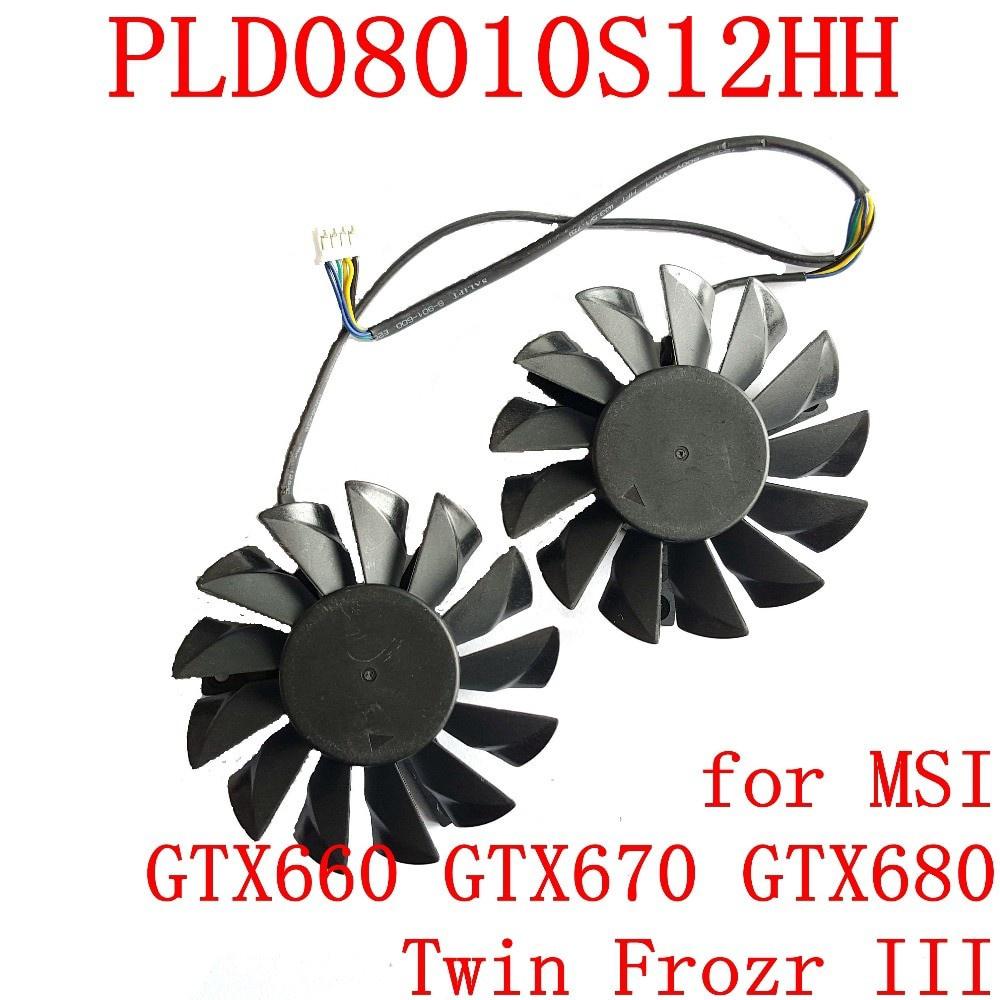 ☆現貨☆適用於 Msi Gtx660 Gtx670 Gtx670 Gtx680 Twin Frozr Iii 圖形