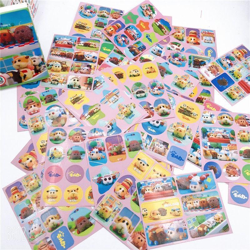 現貨  天竺鼠車車盒裝貼紙  天竺鼠車車 貼紙 日記貼 裝飾貼