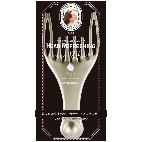 日本製 VOSS 遠紅外線 礦石 多功能 按摩梳 頭皮梳 舒緩 桃子小姐日貨