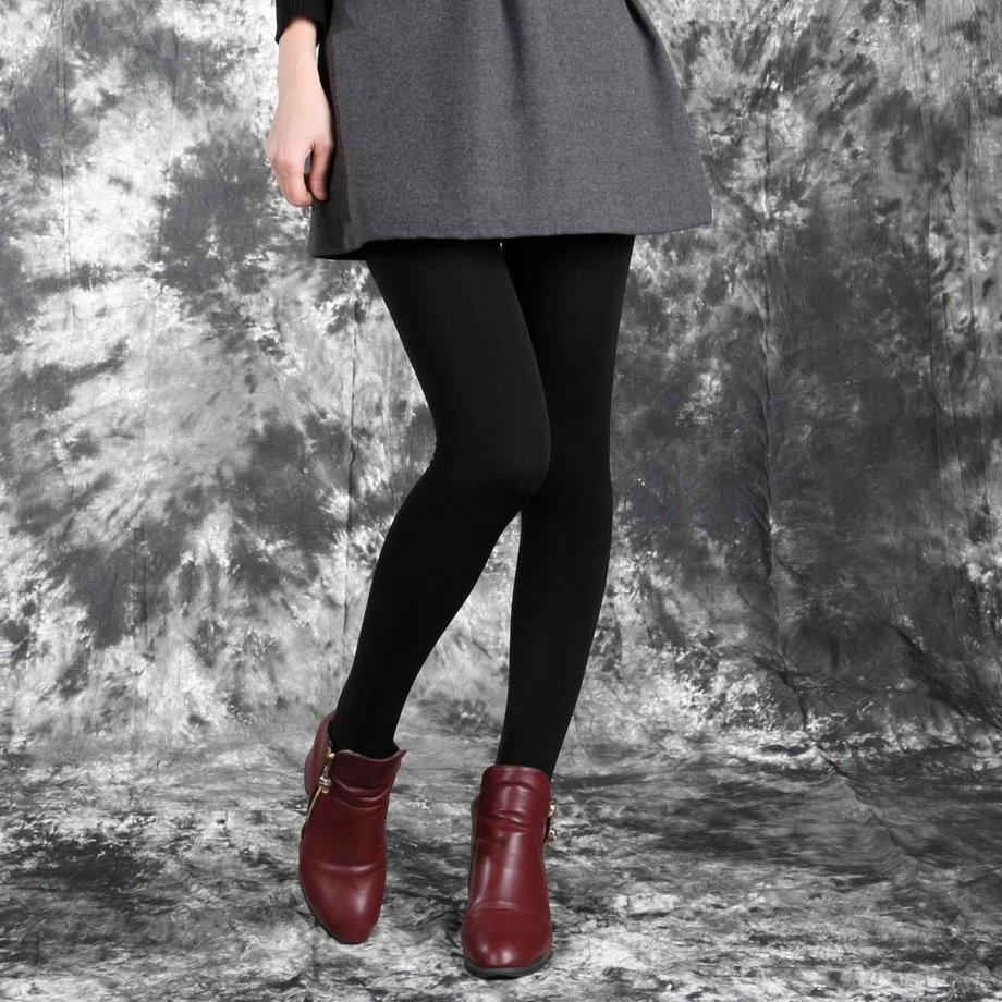 海外直送 踝長冬季合身內搭褲羊絨保暖厚實的露腳緊身彈性彈力女褲