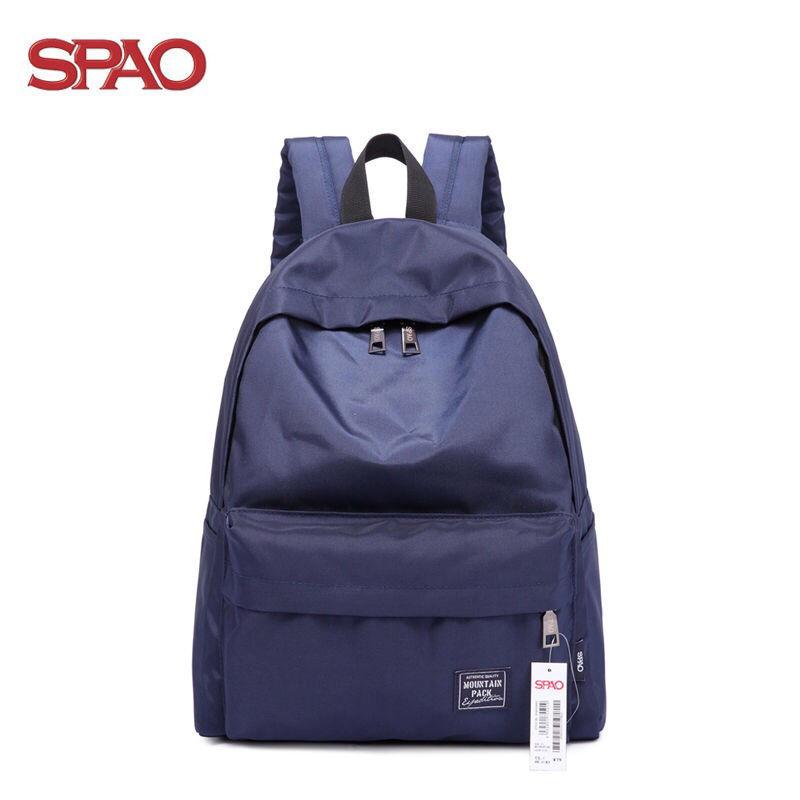 spao 後背包 SPAO雙肩包 女 韓版 高中校園 簡約 旅行包 小學生 初中生背包 中學生書包 男 韓版 學院風
