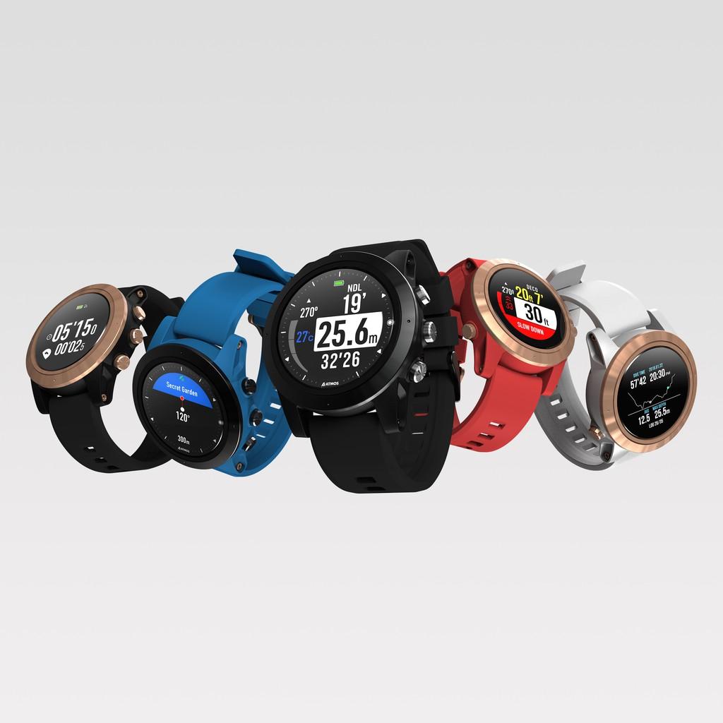 萬德福潛水 -ATMOS MISSION ONE潛水電腦手錶防水矽膠運動休閒時尚錶帶