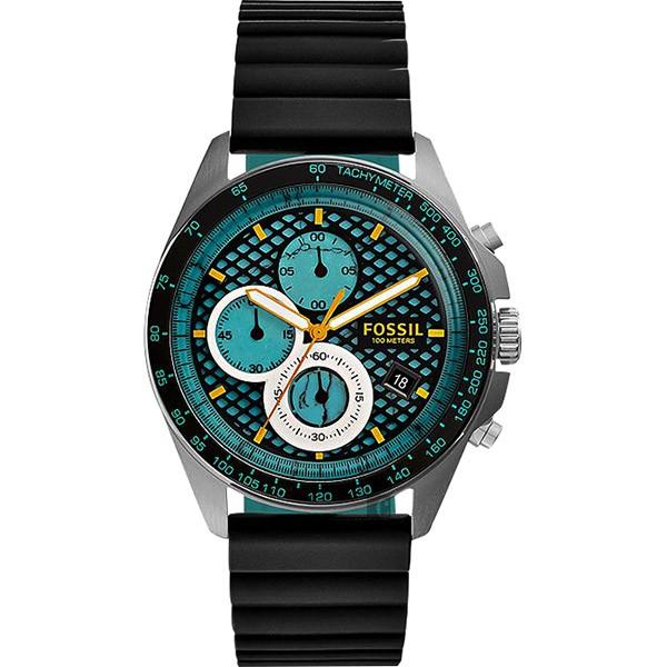 FOSSIL Sport 54 爆裂計時腕錶-綠x黑/42mm CH3091