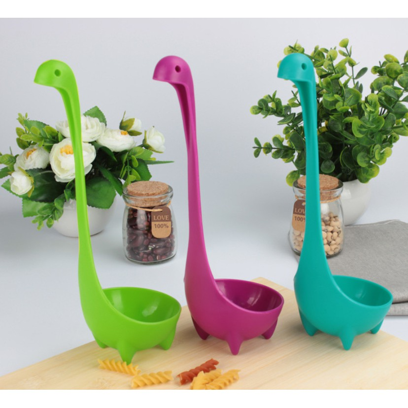 創意尼斯湖水怪湯勺 可立式湯匙 可站立湯勺 杓子 勺子 撈勺 可掛式湯杓 煮粥杓