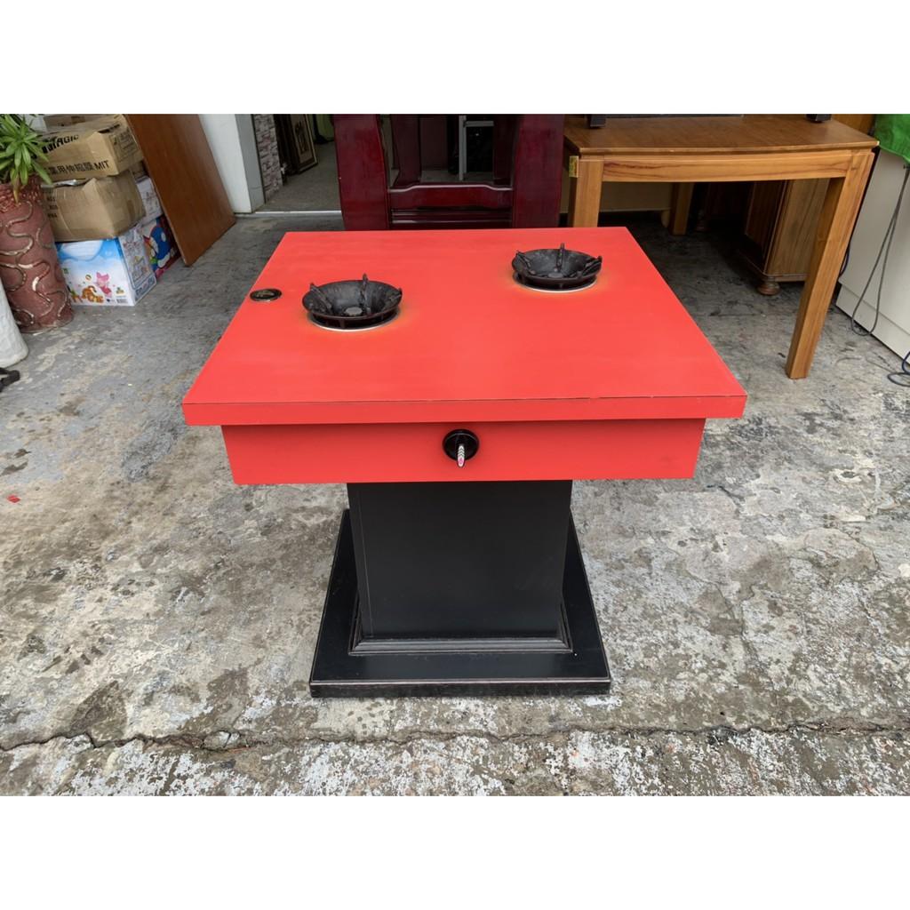 香榭二手家具*紅色美耐板2.3尺 二人座火鍋桌(桶裝瓦斯)-營業用餐桌-瓦斯火鍋桌-小火鍋桌-個人鍋-中古餐桌-吃飯桌