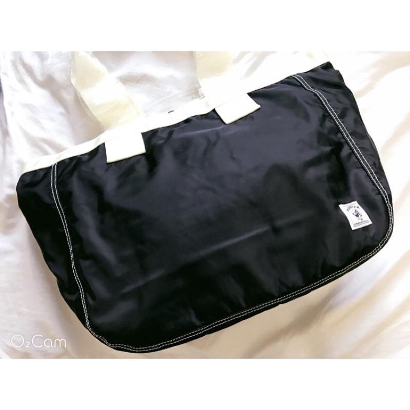 Porter 黑包白背帶 大包款 現在買只要800元