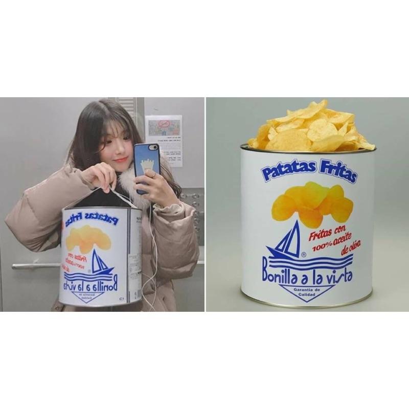 預購大爆紅!西班牙 Bonilla a la vista 油漆桶海鹽洋芋片-500g