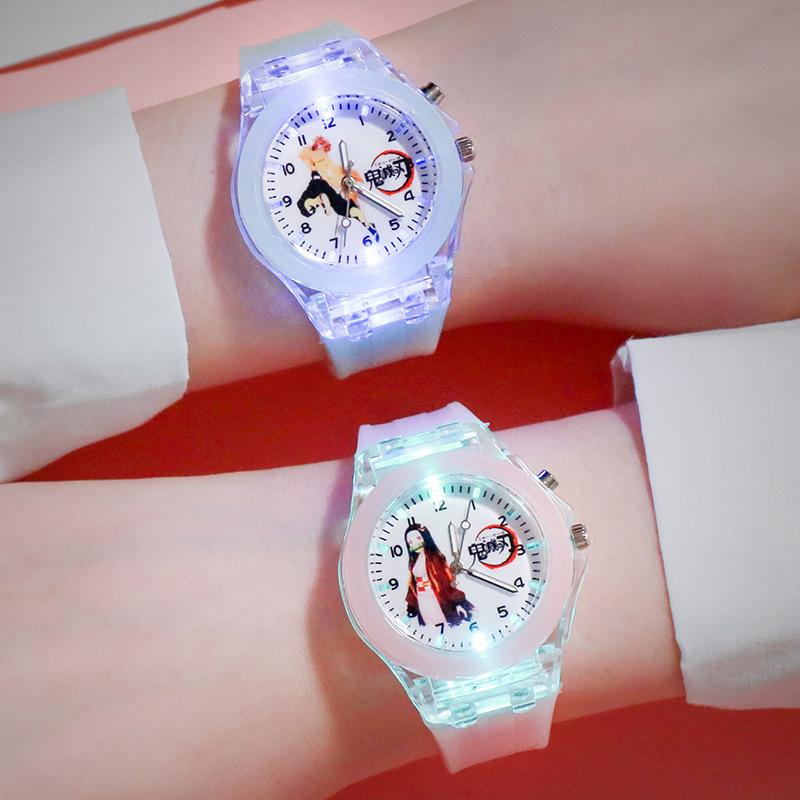 新款鬼滅之刃手錶卡通手錶石英表夜光發光小學生手錶兒童錶新款