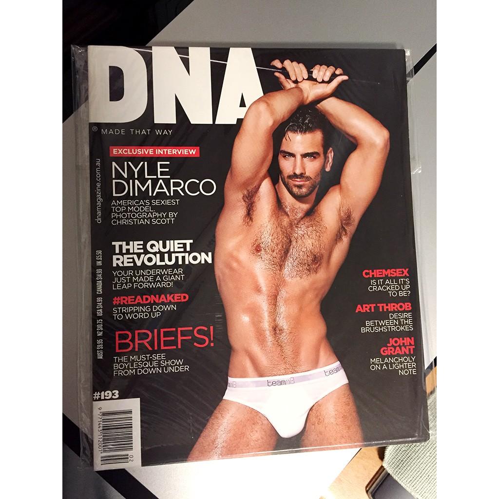 絕版 美國男同志雜誌 DNA #193 男體寫真 美國超級名模生死鬥冠軍 Nyle DiMarco gay 同志攝影