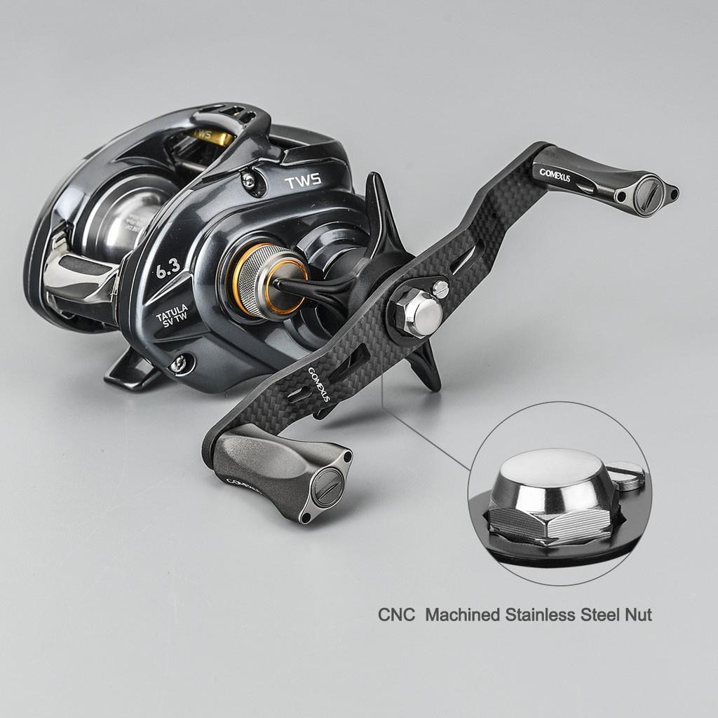 ♦現貨♦Gomexus碳纖維手把95mm適用shimano daiwa akuma小烏龜捲線器 戶外釣魚 改裝搖臂DC-