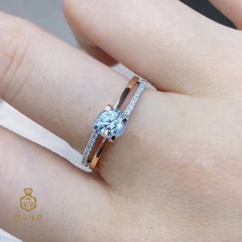 璽朵珠寶 [ 18K金 30分 雙色 鑽石戒指 ] 微鑲工藝 精品設計 鑽石權威 婚戒顧問 婚戒第一品牌 鑽戒 GIA