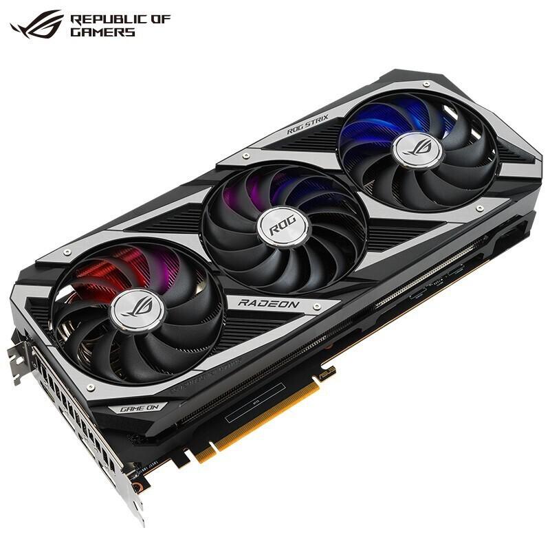 現貨  華碩TUF RX6700xt/6800/6900/6600XT架構AMD電競遊戲8卡顯卡公版 JLG~