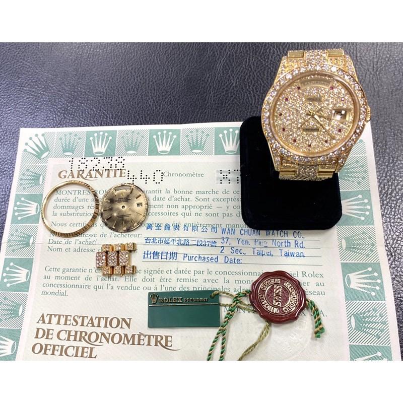 ROLEX勞力士 蠔式18K金 18238 大紅蟳 台灣原廠證書 錶徑36mm 滿天星!