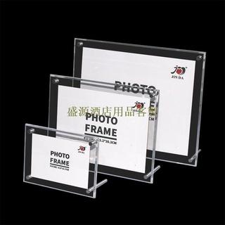 酒店用品客製擺臺相框A4證書營業執照獎狀相框透明亞克力展示架玻璃相框定制 嘉義市