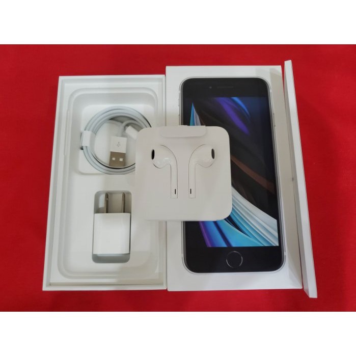 ※聯翔通訊 台灣原廠保固2021/5/6 白色 Apple iPhone SE2 128G 原廠盒裝 ※換機優先