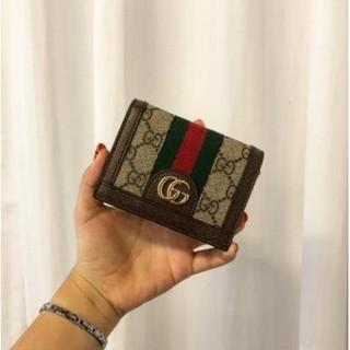 《小利家二手精品購》GUCCI Ophidia GG Card Case 短夾 523155 綠紅綠 復古款 現貨