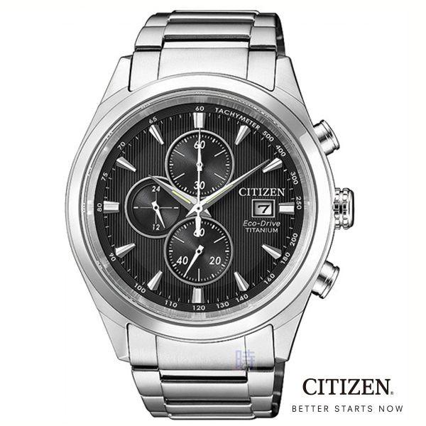 CITIZEN星辰 光動能 鈦金屬三眼計時 手錶 CA0650-82F