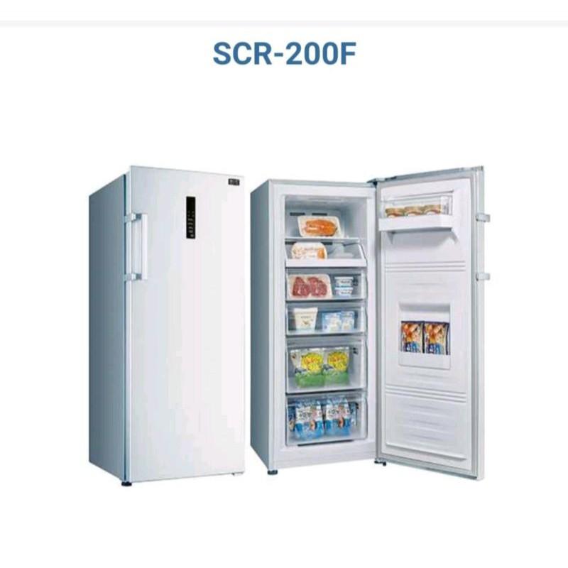 台南 台灣三洋 SCR-200F 直立式 冷凍櫃 200L SANLUX 自動除霜 冷凍