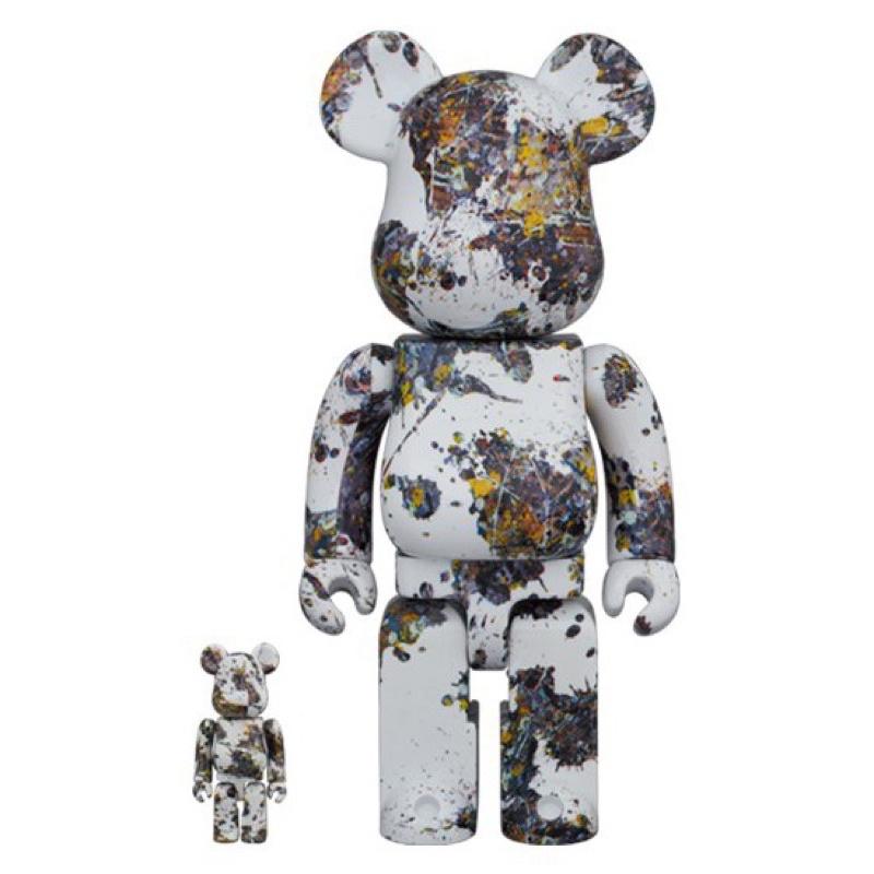 Be@rbrick Jackson Pollock Studio 潑墨3代 400%+100% 庫柏力克熊 全新未拆封