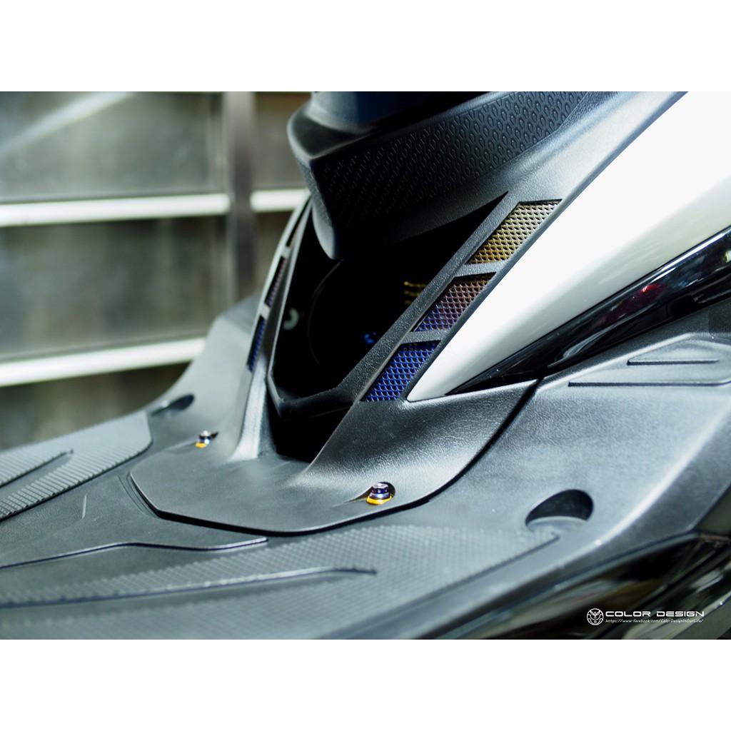 勁戰三代 Cygnus-x 鈦合金網 造型胸蓋