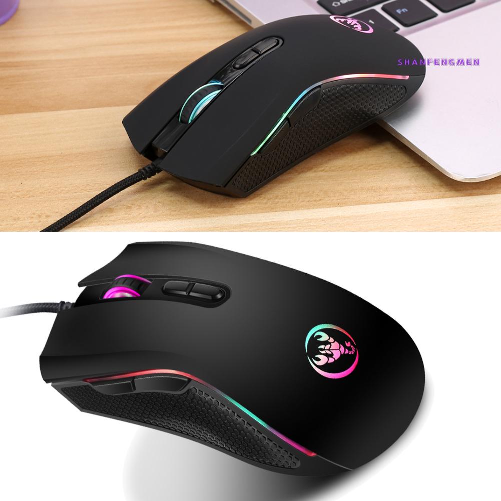 【COCO】LTP A869 HXSJ七彩發光遊戲滑鼠 電競有線滑鼠dpi四檔可調最高3200dpi