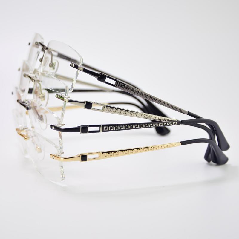紳士金屬無邊鏡框~近視眼鏡~時尚無邊眼鏡~IP電鍍
