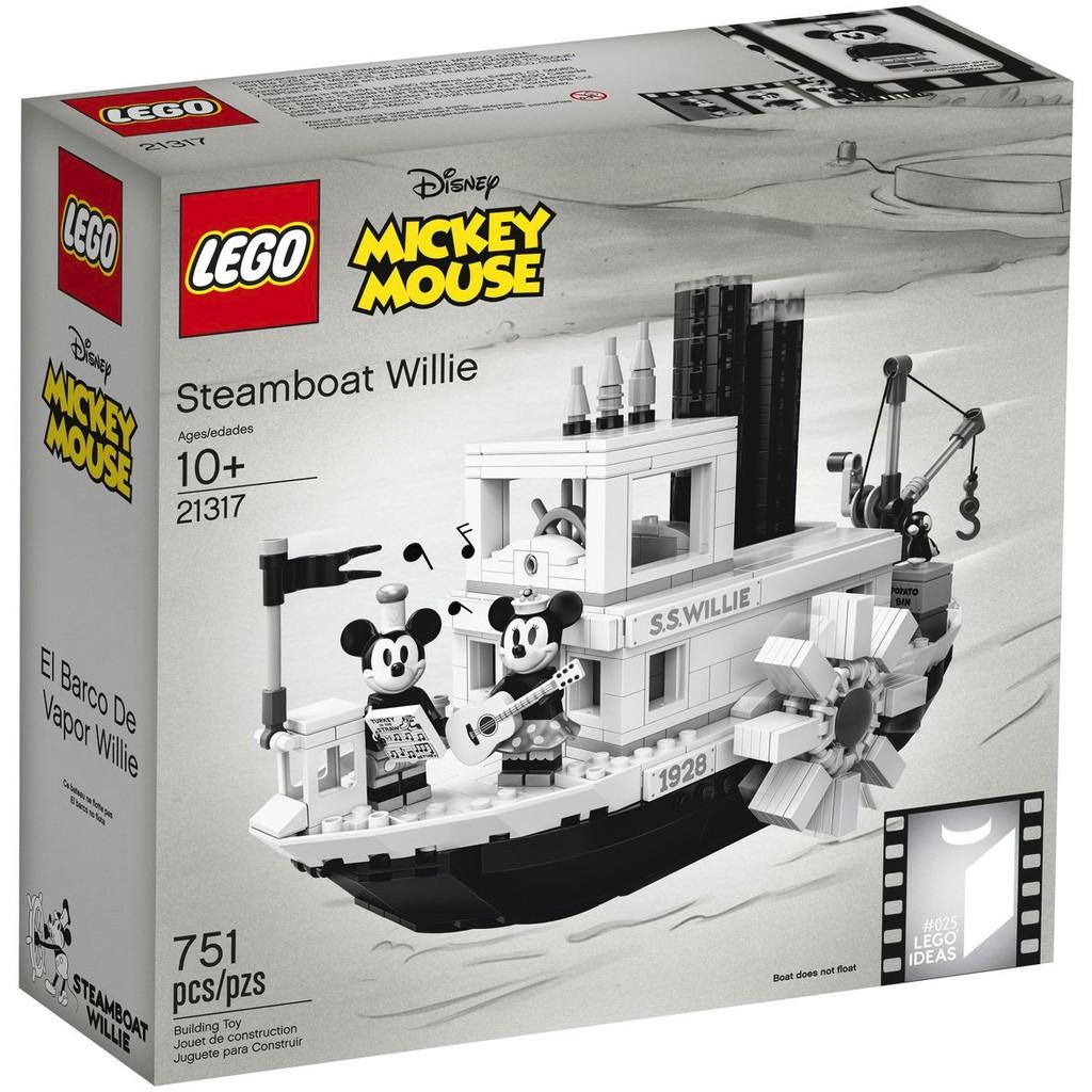 【CubeToy】樂高 21317 IDEAS 迪士尼 米奇 蒸汽船 威利號 - LEGO Disney -