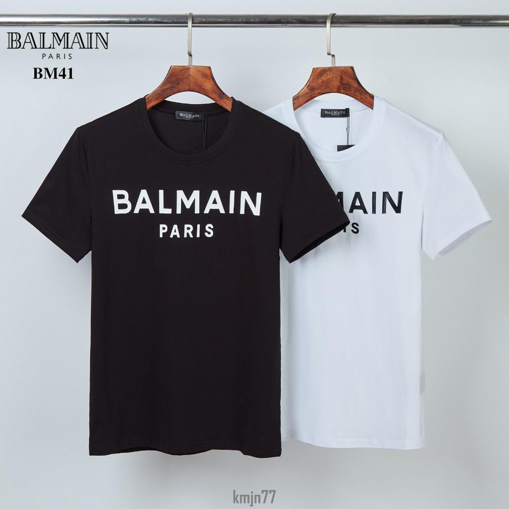 奢華潮品店!Balmain 巴爾曼 短袖T恤 短袖 男生短t 純棉 圓領T恤  短袖上衣 大尺碼